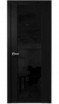 Vento Interior Door Diablo Black / Black Glass