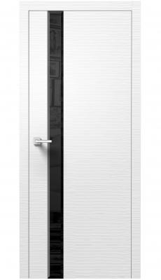 Dianto Interior Door 3D White / Black Beveled Glass