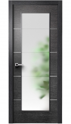 Versa Vetro Interior Door Black Apricot